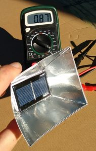 4 Sided reflector increases Performance of Solar Cell