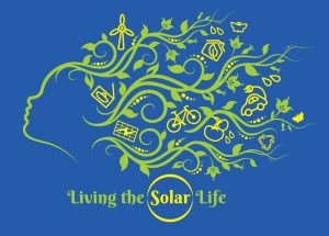 "Tshirt design. ""Living the Solar Life"". Top 5 point-earners on Team Solar Schoolhouse will receive a Tshirt."