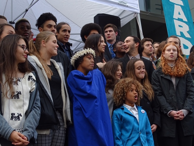 Youth plaintiffs in the Climate Change lawsuit gather in Eugene Oregon in October.
